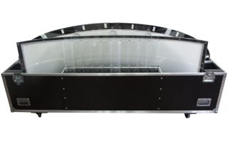 ALL BOX FLIGHT CASE TAVOLO IN PLEXIGLAS
