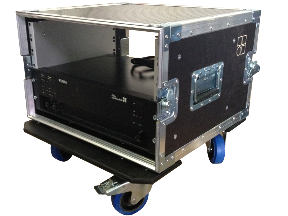 ALL BOX FLIGHT CASE PER D&B P1200A RACK 6U