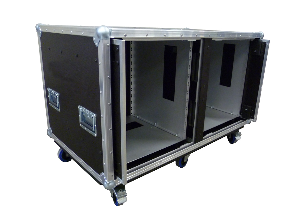 ALL BOX FLIGHT CASE PER D&B TOURING RACK 12U
