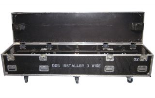 ALL BOX FLIGHT CASE PER INSTALLER 3 WIDE